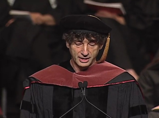 This is so incredibly brilliant. I just watched it three times in a row and that number will double by the end of today. Neil Gaiman is an inspiration for anyone in any creative field, and this speech he gave to the 2012 University of the Arts graduating class is the speech I wish I had the pleasure of hearing on graduation day.