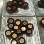 Champagne, pumpkin flavoured chocolates