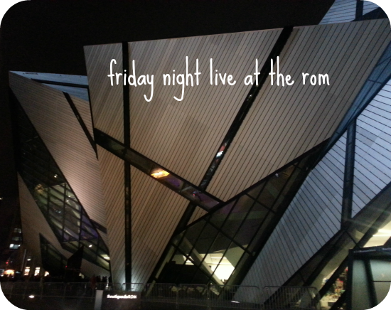 A review of Friday Night Live at The Royal Ontario Museum in Toronto