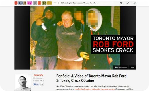 rob ford toronto mayor crackhead video gawker tgif