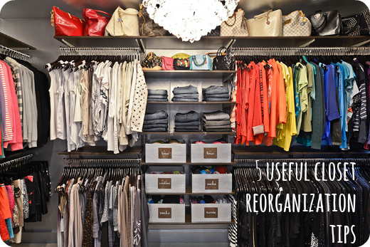 how to reorganize your closet